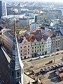Vánoční Plzeň, katedrála sv. Bartoloměje , pohled z věže.jpg