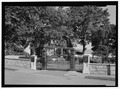 VIEW OF ENTRANCE GATES, CLOSED. VIEW TO SOUTHEAST. - Salisbury National Cemetery, 202 Government Road, Salisbury, Rowan County, NC HALS NC-2-1.tif