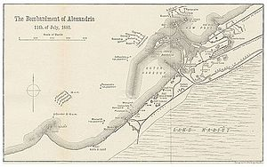 Bombardment of Alexandria - Plan of the Bombardement
