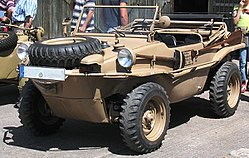 schwimmwagen of the Afrika Korps in display