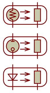 Resistive opto-isolator