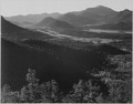 "Valley surrounded by mountains, ""In Rocky Mountain National Park,""Colorado., 1933 - 1942 - NARA - 519962.tif"