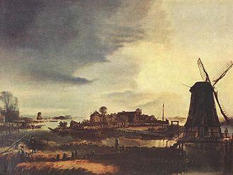1649 in art - Image: Van der Neer Landscape