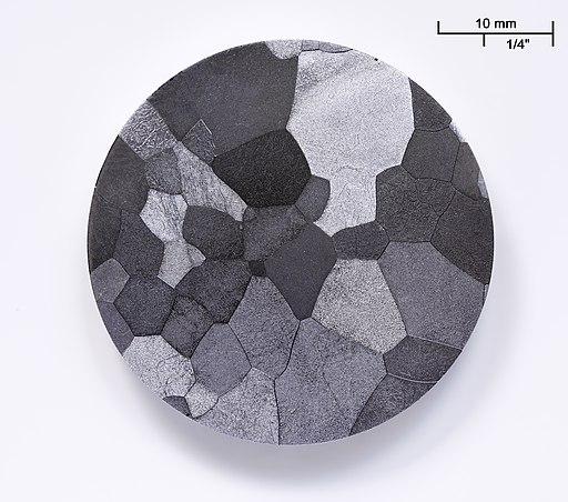 Vanadium etched