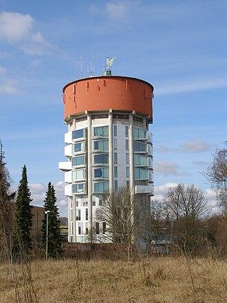 Jægersborg Water Tower - Image: Vandtårn ved jægersborg station