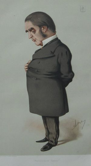 "William Gull - A caricature of Gull appeared in the British magazine Vanity Fair on 18 December 1875, under the title ""Physiological Physic"". This was one of a series of over 2,000 Vanity Fair caricatures showing prominent personalities of the time."