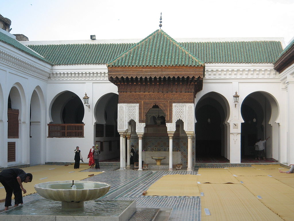 The University of al-Qarawiyyin, founded by Fatima al-Fihri in 859 AD<a href=&quot;http://en.wikipedia.org/wiki/University_of_al-Qarawiyyin&quot; target=&quot;_blank&quot;>source</a>