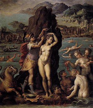 Andromeda Chained to the Rocks - Image: Vasari, perseo e andromeda, studiolo