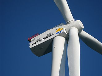 Ormonde Wind Farm - Wind turbine at Ormonde Wind Farm, March 2011