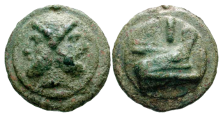 bronze and copper coin from the Roman era