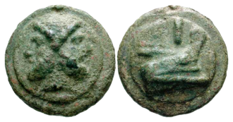 As (Roman coin) - Circa 240-225 BC. Æ Aes grave As