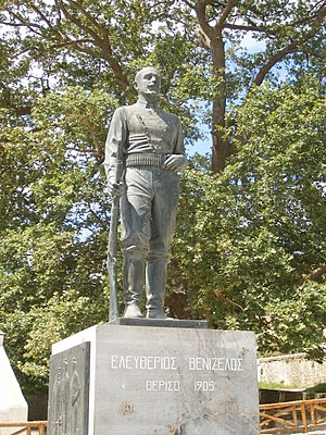 Theriso revolt - Statue of Eleftherios Venizelos in the village of Theriso