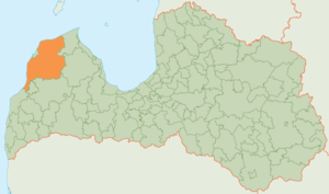 Ventspils Municipality - Image: Ventspils novada karte
