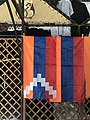 Vernissage, Erevan, Arménie - drapeau Karabagh.JPG