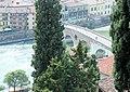 Verona, view from Castel San Pietro to the Ponte Pietra.jpg