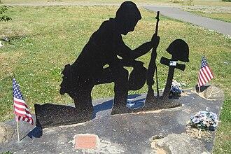 Rainier, Washington - A monument at Veterans Memorial Park.