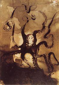 Desenho de Victor Hugo: Polvo com as Iniciais V.H., 1866.