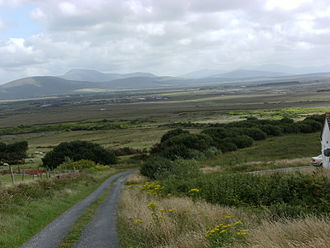 Erris - View across Erris blanket bog southwards from Carrowmore Lake