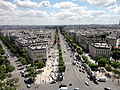 View from Arc de Triomphe 22 2012-07-02.jpg