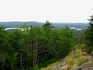Superior National Forest - Image: View from Eagle Mountain Minnesota