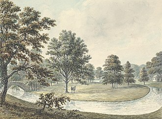 Erddig - View in grounds of Erddig, 1794