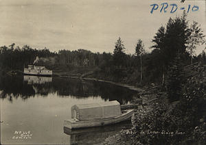 Lesser Slave River - View of the Lesser Slave River, 1911