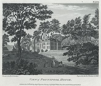 Pontypool Park - Pontypool House, 1793