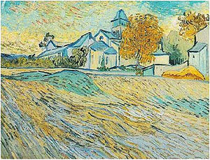 Olive Trees (Van Gogh series) - View of the Asylum and Chapel at Saint Remy, 1889 Collection of Elizabeth Taylor (F803)
