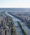 View southwest of Seine from Eiffel Tower, Aug 2010.jpg