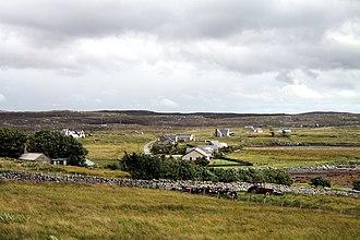 Callanish - Image: View to Callanish village from Callanish Stones in summer 2012 (3)