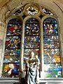 Villers-sous-Saint-Leu (60), église Saint-Denis, verrière de l'arbre de Jessé 1.JPG