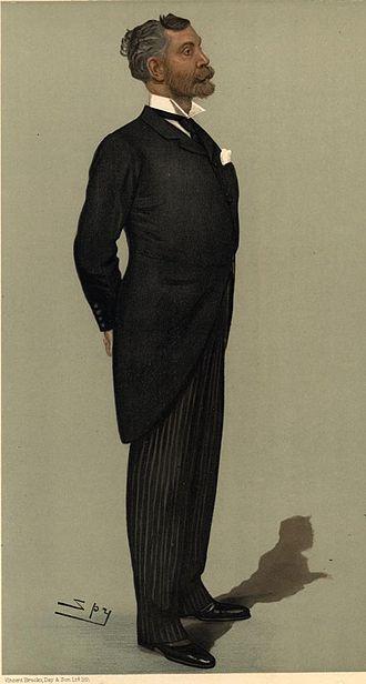 Edgar Vincent, 1st Viscount D'Abernon - Caricature by Spy (Leslie Ward) in Vanity Fair magazine (20 April 1899)