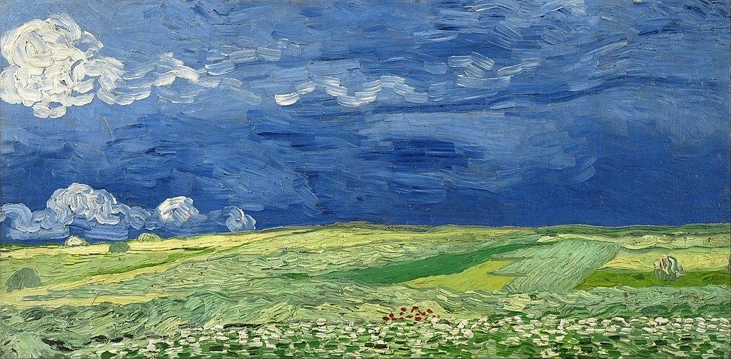 Champs de blés sous un ciel orageux de van Gogh au Musée Van Gogh d'Amsterdam.