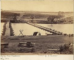 Virginia, Fredericksburg, Pontoon Bridge across the Rappahannock river. - NARA - 533306.jpg