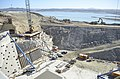 Visible progress continues to show at the new Folsom Dam auxiliary spillway Sept. 23 as work on the approach channel and downstream chute take center stage. (21717807631).jpg