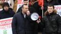 Vlad Batrîncea dând tonul unui protest PSRM.png