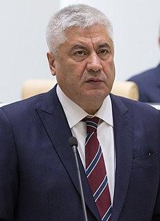 Vladimir Kolokoltsev Russian Minister of Internal Affairs