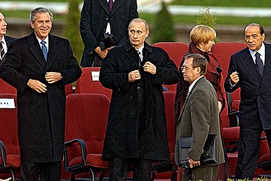 Russia strongly opposed the U.S.-led 2003 invasion of Iraq. Vladimir Putin in Saint Petersburg-56.jpg