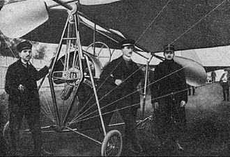Aurel Vlaicu - A Vlaicu I airplane at October 1910 military exercises