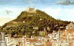 Il Vomero (particolare della Tavola Strozzi, 1474)