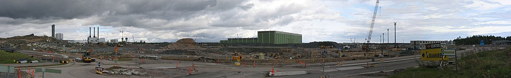 The new harbor building site panorama