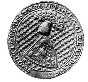 Władysław of Oświęcim - Władysław 's seal, dated to 1317.