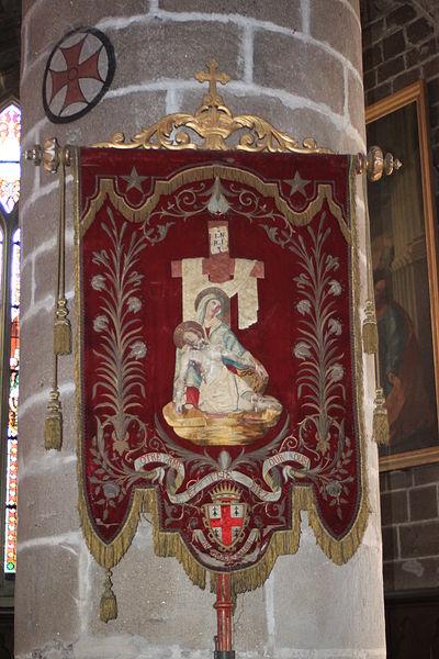 Bannière Notre-Dame-de-Pitié, église Notre-Dame-de-Pitié, Fr-44-le Croisic.