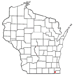 Location of Wheatland, Wisconsin