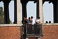 WLM 2012 - Pavia - Wikimediani sul Ponte Coperto.JPG