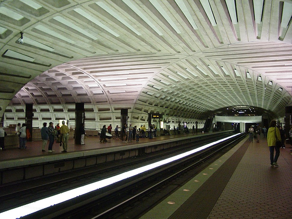 WMATA metro center crossvault