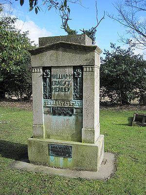 William Ernest Henley - Henley's gravestone, Cockayne Hatley.