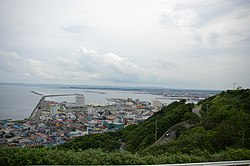 View of Wakkanai from Wakkanai Park