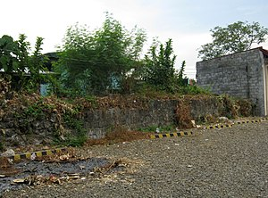 Immaculate Conception Parish Church (Balayan) - Image: Walls of the Old Cota of Balayan Church