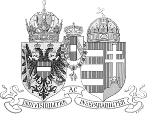 Coat of arms of Austria-Hungary - Image: Wappen Österreich Ungarn 1915 (Klein SW)